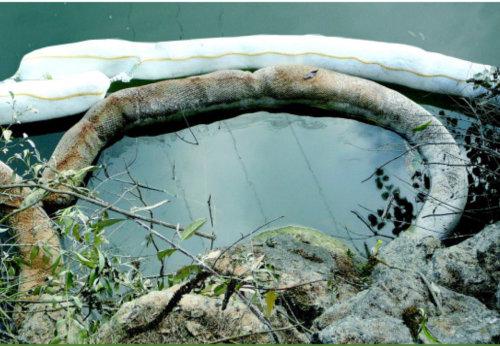 barreras absorbentes para control de derrames de hidrocarburos