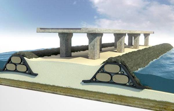 diques de proteccion con tecnologia geotube