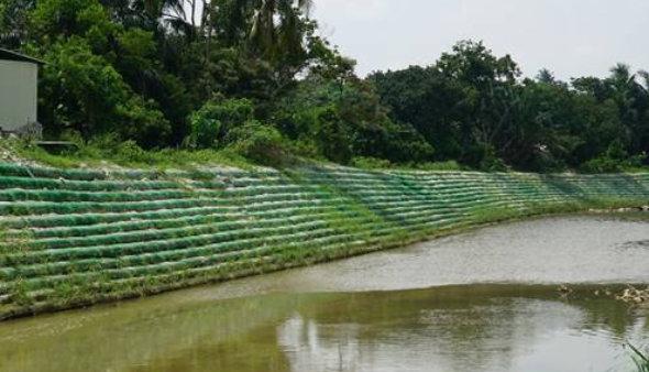 Sistemas de Control de Erosion geobolsas cauces de agua geobags