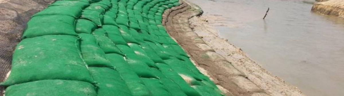 Sistemas de Control de Erosion geobolsas rios y quebradas geobags