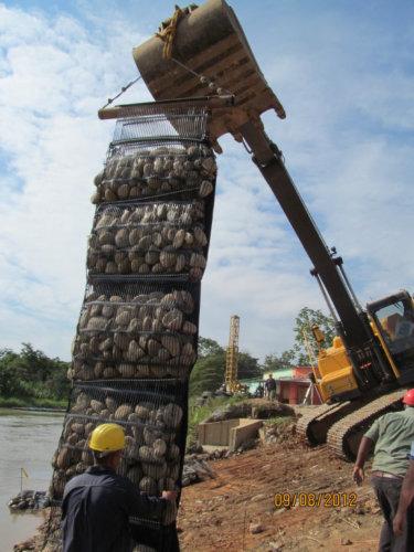 geocolchones para control de erosion y proteccion de riberas