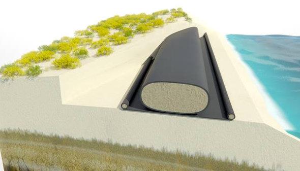 Sistemas de Control de Erosion para diues y presas con geotextiles y geomembranas