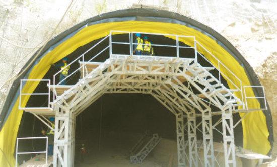recubrimiento e impermeabilizacion de tuneles con geomembranas geotextiles y geosinteticos