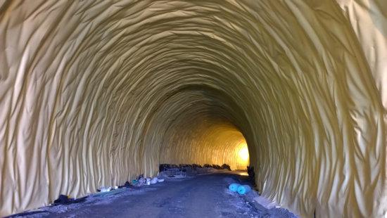 impermeabilizacion de tuneles con geomembranas geosinteticos y laminas